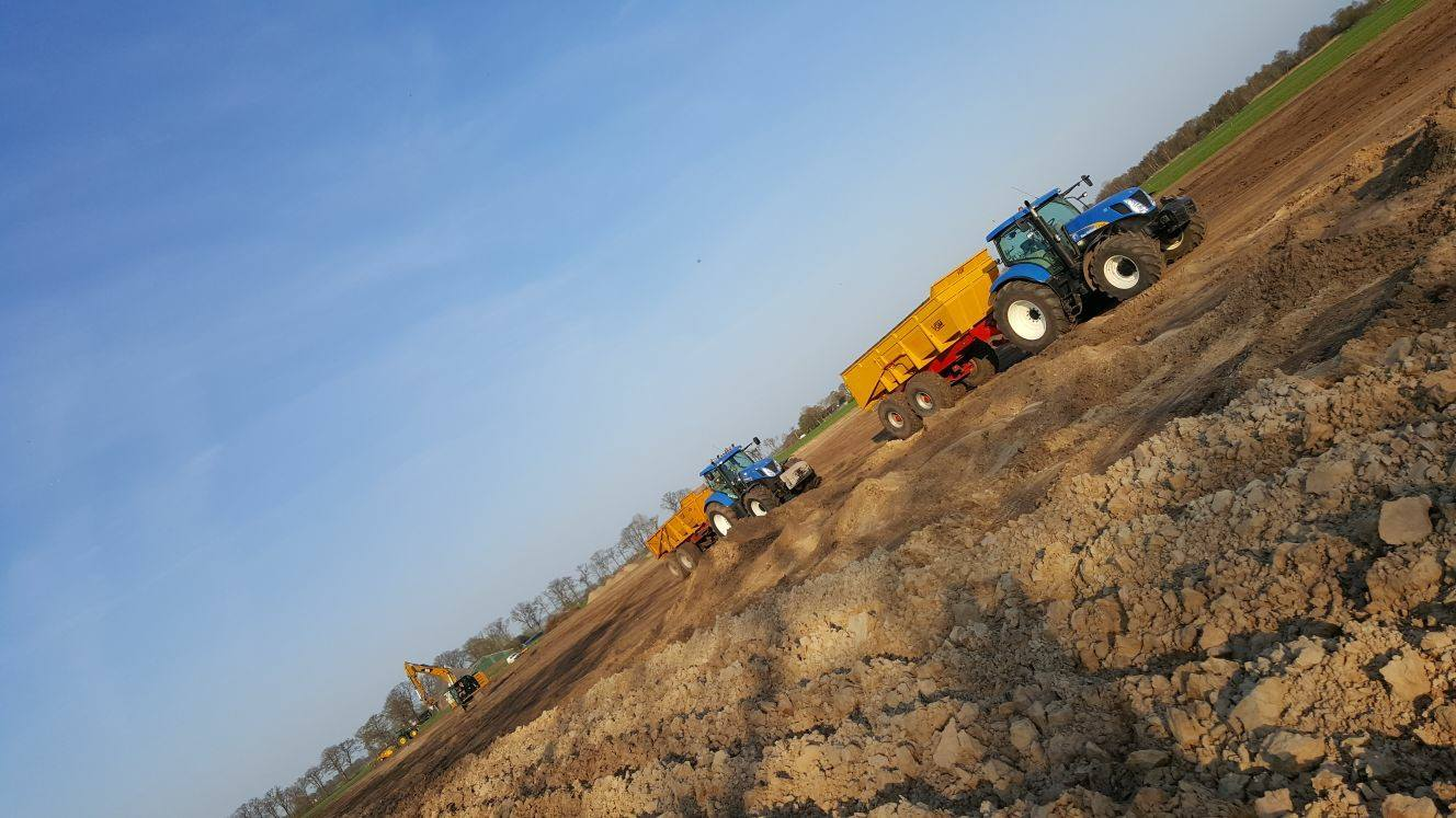 Grasland verbetering in Niekerk